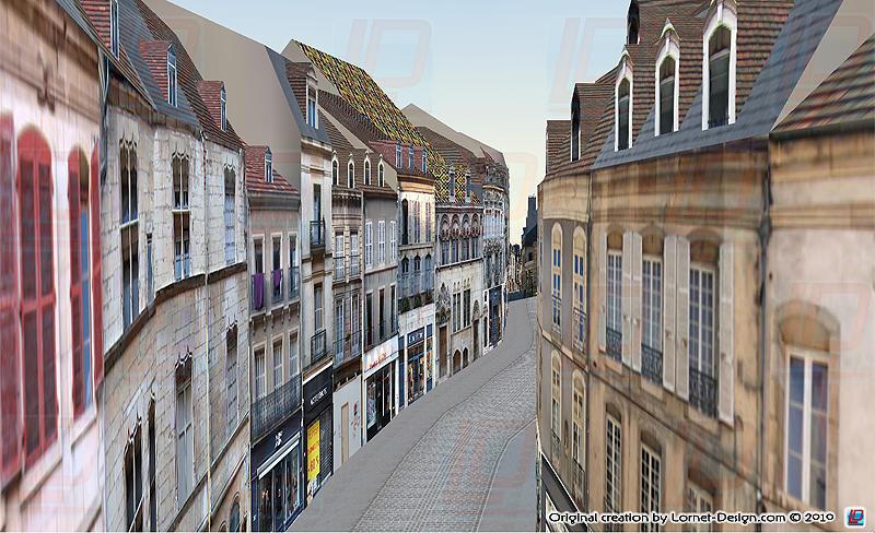 Tourisme 3d dijon rue des forges et rue st phen for Dijon architecture