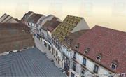 Rue du Bourg vue depuis le Palais des Etats - Dijon 3d - Lornet-Design 2010